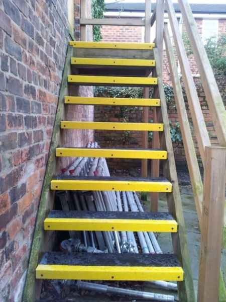 Stair Treads on Timber External Staircase