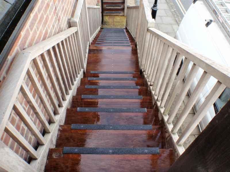 Anti Slip Nosing on Slippery Wooden Stairs