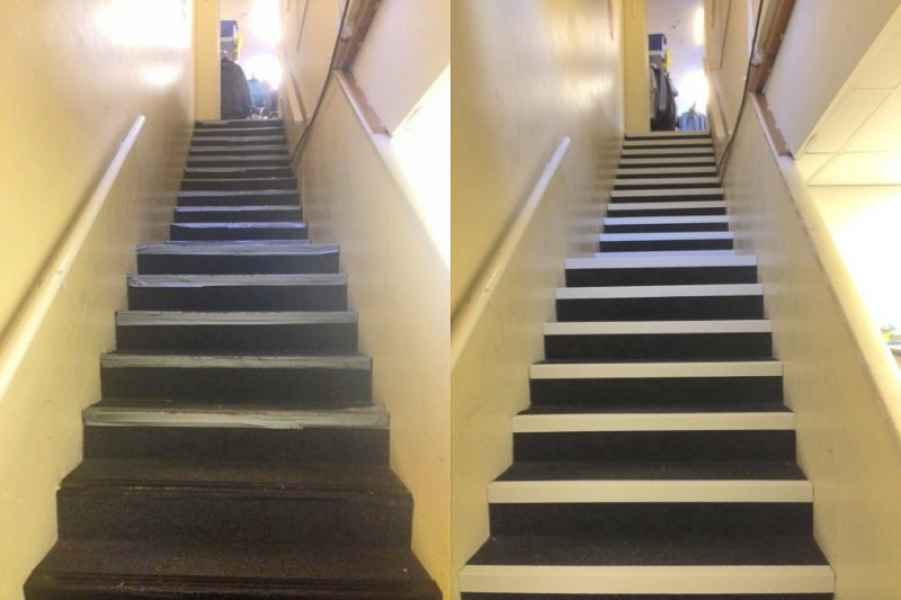 Stair Tread Replacement on Tired Staircase