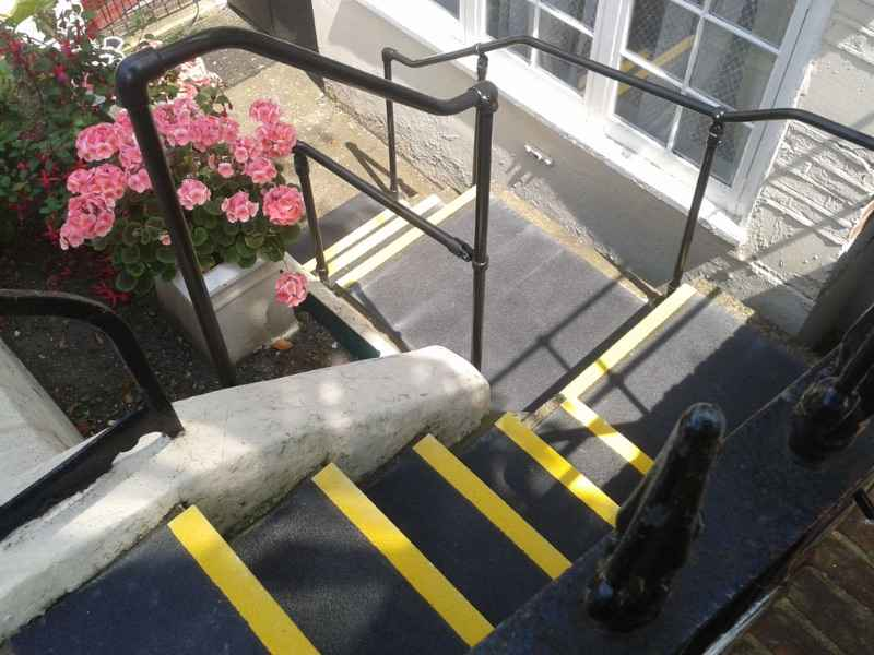 GRP Stair Treads added to Concrete Staircase