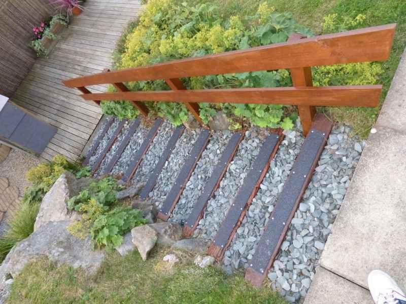 90mm Decking Step Strips on Garden Steps