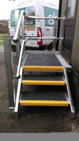 Anti Slip Stair Treads on External Steel Stairs
