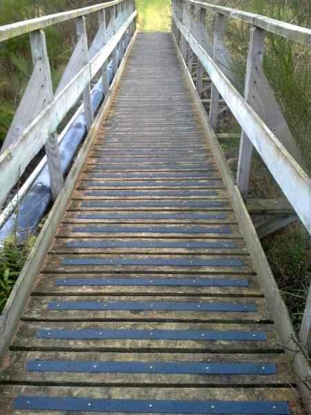 Decking Strips on Woodland Walkway Bridge
