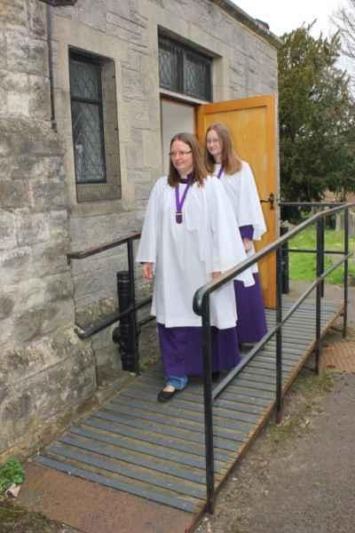 Non Slip Decking Strips on Church Entrance Ramp