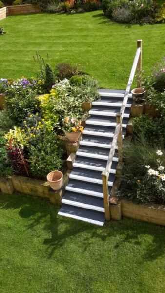 Anti Slip Stair Treads on Garden Staircase