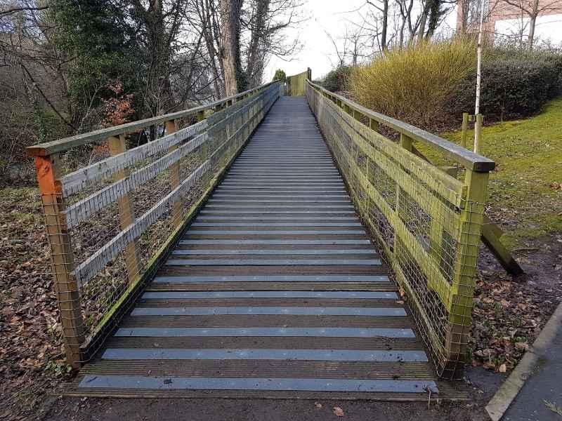 Decking Strips on Slippery Footbridge