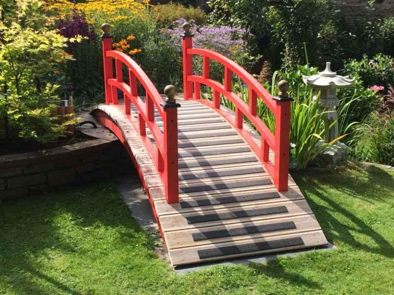 Anti Slip Decking Strips on Garden Bridge Feature