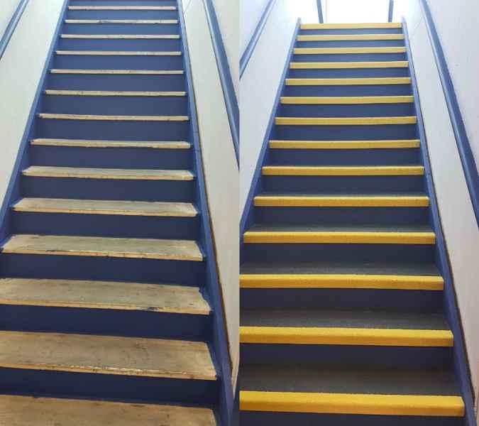 Non Slip Staircase Treads Installation