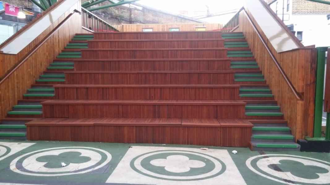 Green GRP Stair Nosing on Auditorium Staircase