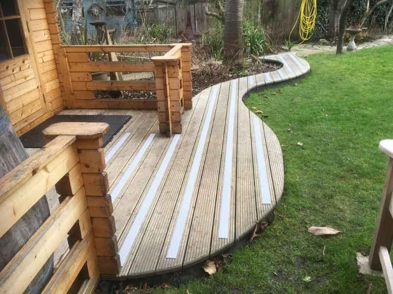 Non Slip Decking Strips on Funky Garden Decking