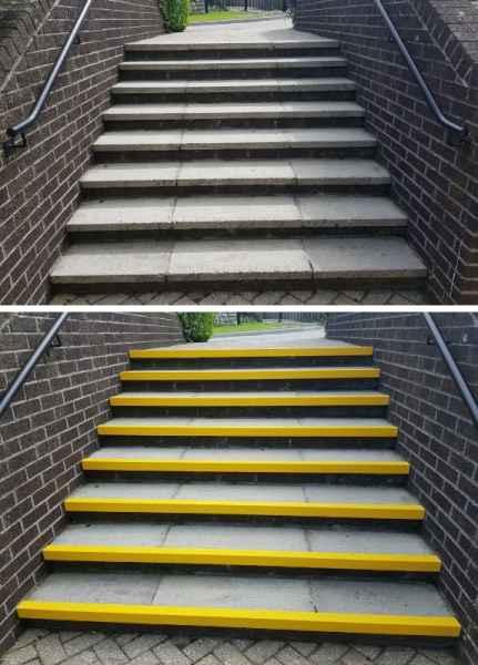 Anti Slip Yellow Stair Nosing Replacement
