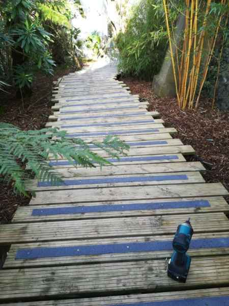 Non Slip GRP Decking Strips Garden Path