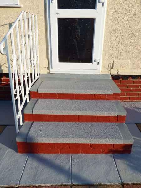 Non Slip Stair Treads on exterior slippery steps