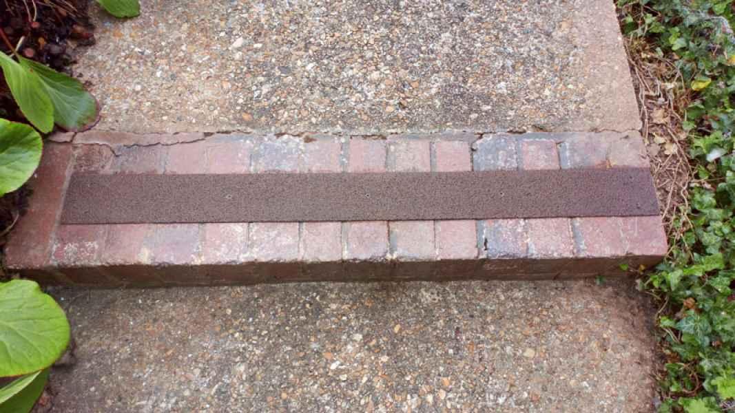 90mm Anti Slip Step Strip on brick step