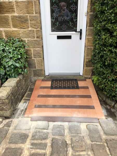 90mm Anti Slip Ramp Strip on front door