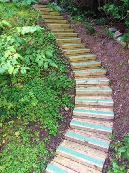 Colourdec Green GRP Step Strips Woodland Steps