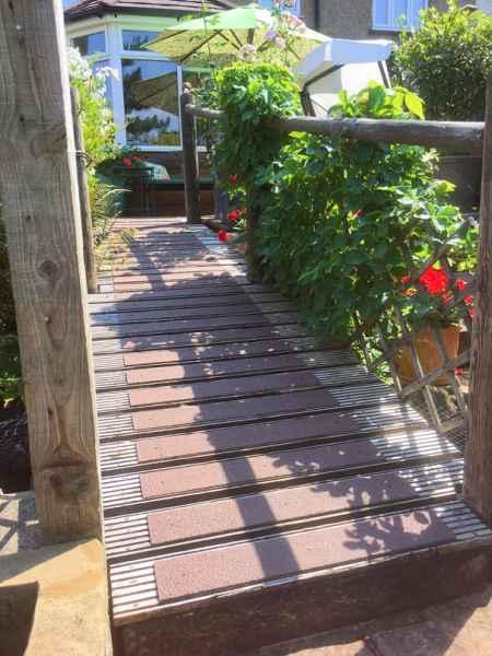 90mm Decking Strips on Garden Footbridge