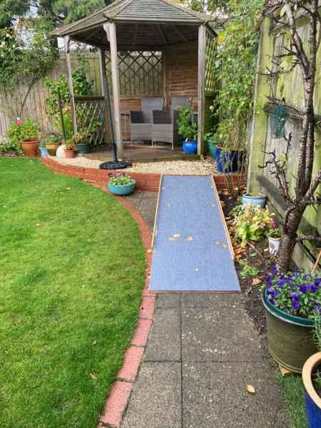 Anti slip sheet for slippery garden ramp