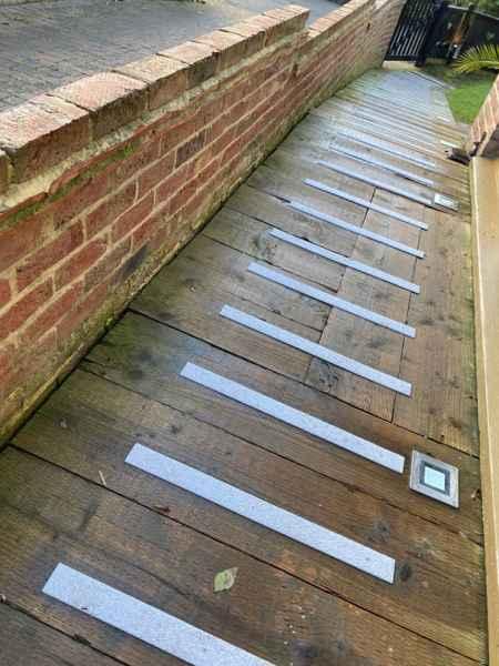 50mm Grey Decking Strips Timber Walkway Ramp
