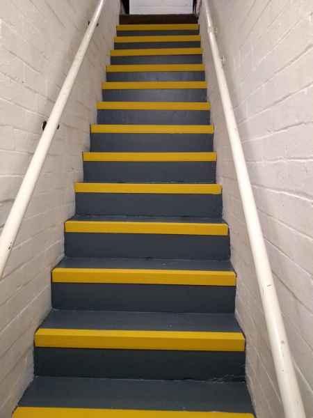 Alan H - Anti Slip Stair Nosing Yellow on Stairs