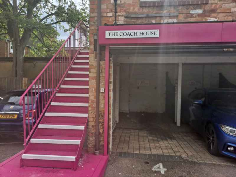 Panacea Property Services - Anti Slip Stair Nosing White on Metal Stairs