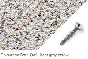 Colourdec Barnowl - light grey screw.