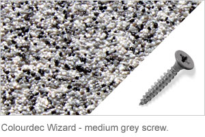 Colourdec Wizard - medium grey screw.