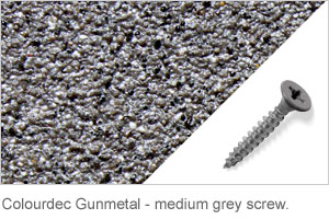 Colourdec Gunmetal - medium grey screw.