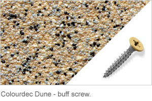Colourdec Dune - buff screw.
