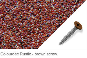 Colourdec Rustic - brown screw.