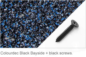 Colourdec Black Bayside - black screw.