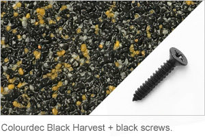 Colourdec Black Harvest - free black screws.