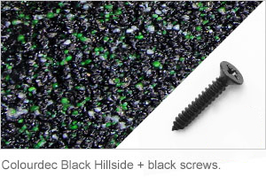 Colourdec Black Hillside - black screw.