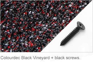 Colourdec Black Vineyard - black screw.
