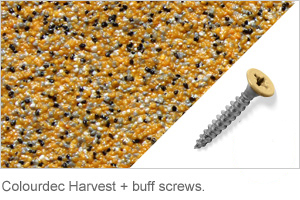 Colourdec Harvest - free buff screws.