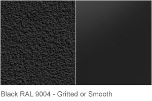 Black RAL 9004 - Gritted or Smooth finish