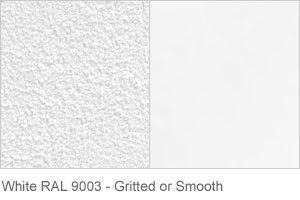 White RAL 9003 - Gritted or Smooth finish