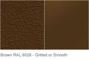 Brown RAL 8028 - Gritted or Smooth finish