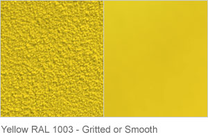 Yellow RAL 1003 - Gritted or Smooth finish