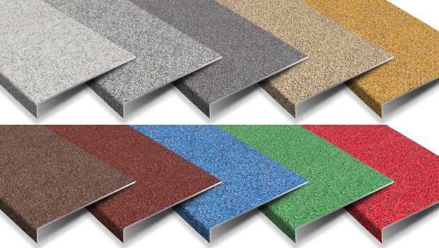 Anti slip stair tread covers Colourdec range by safe tread.