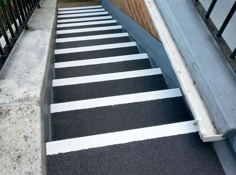 Stair Tread Covers With White Nosing And A Range Of Colours.