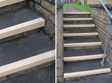 A Durable Anti Slip Solution For High Traffic Steps.