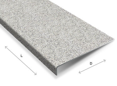 Anti slip stair tread 600mm wide various depths and colours available