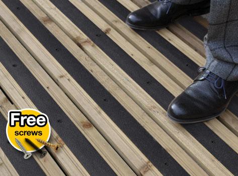 Anti Slip Decking Strips Medium Grit 50mm Non Slip Strips For
