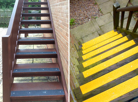 Non Slip Decking Strips For Safer Access Ramps, Gangways And Walkways.