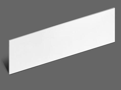 High Quality Stair Riser Plates. White, Smooth Finish.