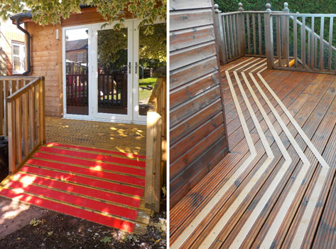 Anti slip decking strips non slip deck strips 50mm for Garden decking non slip