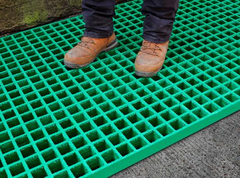 Grp Grating Fibreglass Grating Anti Slip Flooring