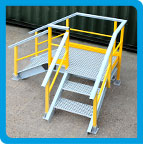 Anti-Slip Stair Access Platforms