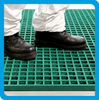 Anti-Slip GRP Grating - Safe Tread
